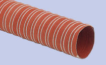 Flexible air duct / fiberglass fabric / in plastic / silicone