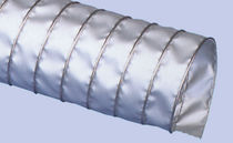 Flexible air duct / polyurethane-coated / high-temperature / spiral