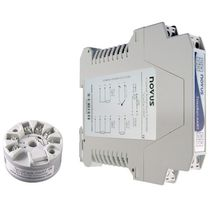 DIN rail mount temperature transmitter / RTD / digital