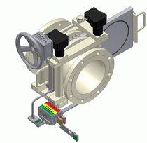 Line blind valve locking device