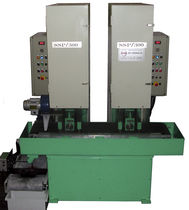 Flat grinding/satin finishing machine / for metal sheets / automatic / double
