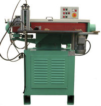Flat grinding/satin finishing machine / for metal sheets / automatic