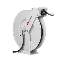 Hose reel / self-retracting / wall-mounted / for air