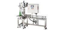 Bottle filling machine / semi-automatic / liquid / for viscous products