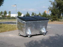 4 wheel metal waste disposal container max. 2 250 x 2 520 x 1 460 mm, max. 8 000 l | REL series Engels Manutention et Environnement