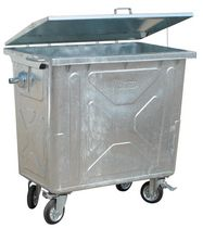 4 wheel metal waste disposal container  LABRUCHE