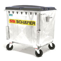 4 wheel metal waste disposal container 770 - 1 100 l | Modultainer® SSI SCHÄFER