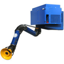 Wall-mounted fume extractor / welding / cartridge / with extraction arm