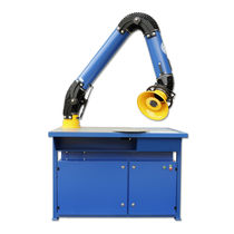 Aluminum welding table / with extraction arm / with filter