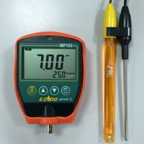Portable pH meter / with LCD display / with automatic temperature compensation