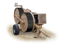 Cable tensioner / automatic / wheel