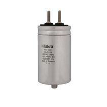 Metalized polypropylene film capacitor / cylindrical / snap-in / power