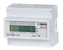 DIN rail electric energy meter / with LCD display