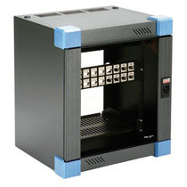 "Protective cabinet / wall-mount / 10"" rack / steel"