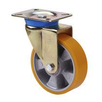 Swivel caster / base plate / polyurethane / pressed steel