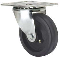 Swivel caster / base plate / with grease nipple / rubber