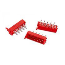 Male pin header / female / double-row / through-hole