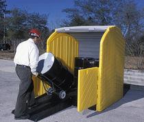 Storage cabinet / free-standing / tambour door / polypropylene