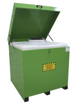 Lid stacking container / steel / waste oil collection / storage