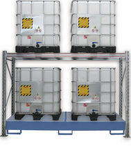 Storage warehouse shelving / cubitainer / with shelves