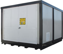 Security storage container for hazardous products