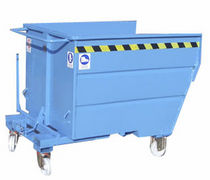 Bulk material tilt truck / for waste / for scrap / wheeled