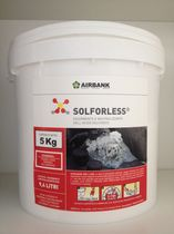 Powder absorbent / for acids / fire-rated