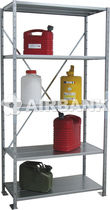 Storage warehouse shelving / for medium loads / for drums / adjustable
