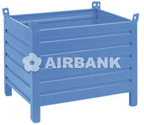Sheet metal crate / storage / for logistics / stackable