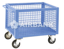 Transport cart / metal / wire mesh platform