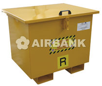 Steel waste bin / for hazardous waste / with lid