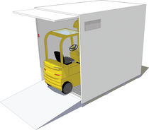 Forklift truck shipping container