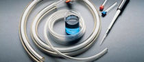Chemical product hose / for vacuum / elastomer