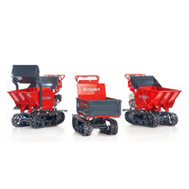 Crawler mini dumper / gasoline / front-loading / lift-skip