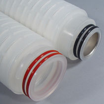 PVDF filter cartridge / high-capacity / membrane / for the beverage industry