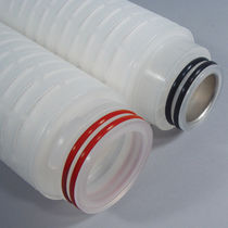 Depth filter cartridge / polypropylene / pleated / for the electronics industry