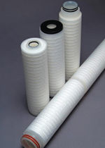Depth filter cartridge / polypropylene / for gas / pleated