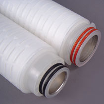 Liquid filter cartridge / depth / fiberglass / pleated