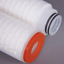 Depth filter cartridge / fiberglass / water / pleated
