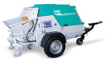 Trailer-mounted concrete pump