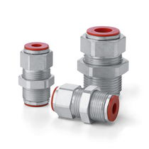 Bulkhead fitting / quick-disconnect / straight / steel