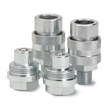 Threaded fitting / quick / straight / hydraulic