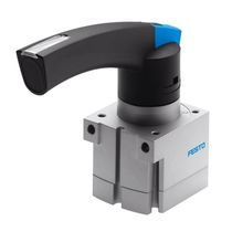 Manual valve / pneumatically-operated / for compressed air