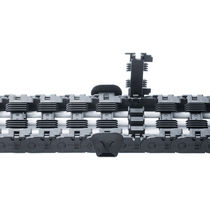 Plastic drag chain / snap-open / long-distance / industrial