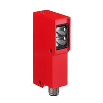 Diffuse reflective photoelectric sensor / rectangular / red light / LED
