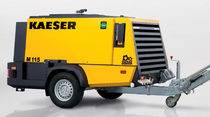 Air compressor / mobile / screw / lubricated