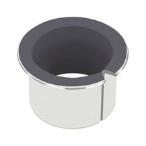 Metal-polymer plain bearing / dry bearing / self-lubricated / steel backing