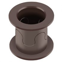 Flange plain bearing / thermoplastic / clip-on