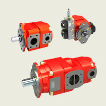 Internal-gear hydraulic pump / rugged