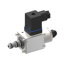 Pressure-reducing valve / cartridge / two-stage / proportional